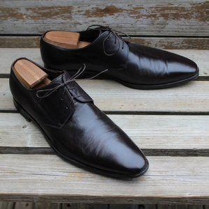 Hugo Boss Plain Toe Derby, Brown Calfskin, EUC
